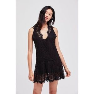 Free People Flirty Lace Mini Dress